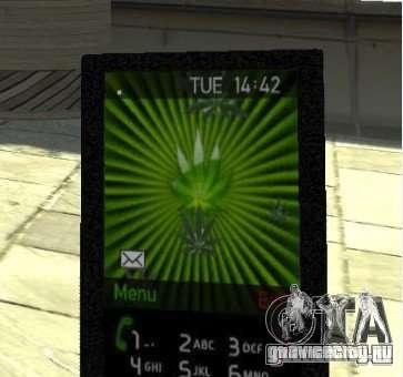 Ganja PhoneCell Theme v2 для GTA 4
