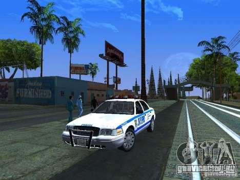 Ford Crown Victoria 2009 New York Police для GTA San Andreas