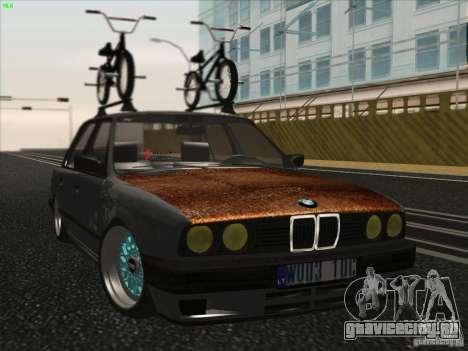 BMW E30 Rat для GTA San Andreas вид сзади слева