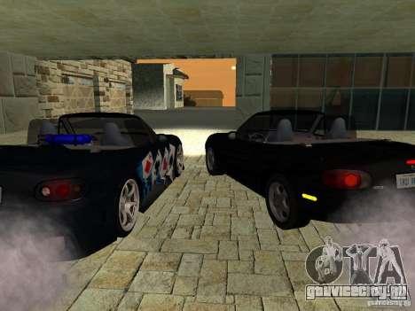 Mazda MX5 Miata для GTA San Andreas вид сзади слева