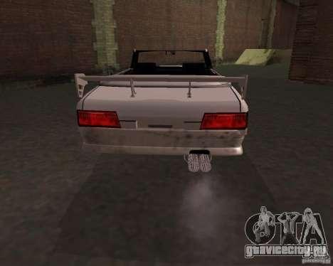 Taxi Cabrio для GTA San Andreas вид сзади слева