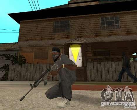 M4A1 с коллиминотарным прицелом. для GTA San Andreas третий скриншот
