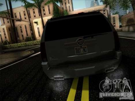 Cadillac Escalade ESV Platinum для GTA San Andreas вид сзади слева