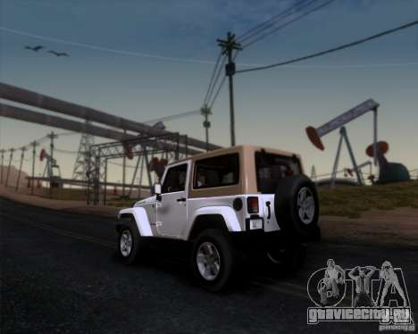 Jeep Wrangler Rubicon для GTA San Andreas вид слева