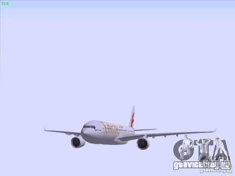 Airbus A330-200 Emirates для GTA San Andreas вид снизу