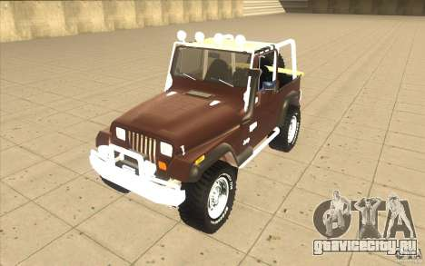 Jeep Wrangler 1986(2) для GTA San Andreas вид слева