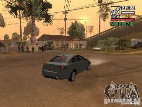 Pontiac G8 GXP для GTA San Andreas вид сзади слева