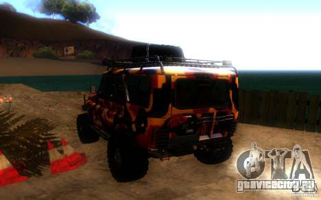 УАЗ 4х4 для GTA San Andreas вид сзади слева