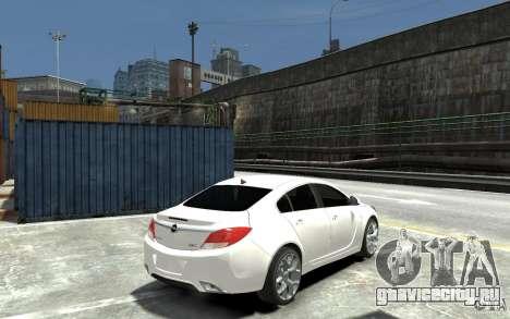 Opel Insignia OPC BETA для GTA 4 вид справа