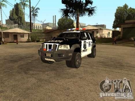 Jeep Grand Cherokee police K-9 для GTA San Andreas