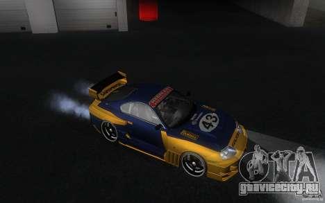 Toyota Supra Chargespeed для GTA San Andreas вид изнутри