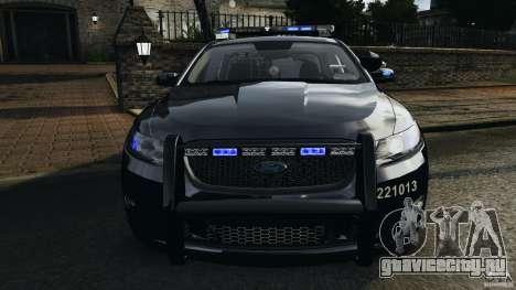 Ford Taurus 2010 Atlanta Police [ELS] для GTA 4 вид снизу