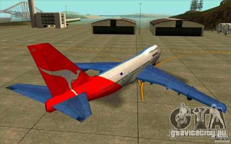 Boeing Qantas 747-400 для GTA San Andreas вид сзади слева