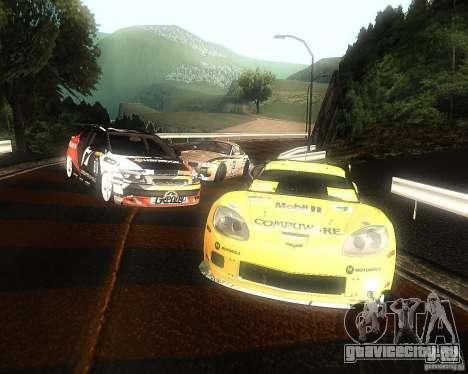 Chevrolet Corvette Drift для GTA San Andreas вид изнутри
