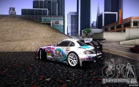 BMW Z4 E89 GT3 2010 для GTA San Andreas салон