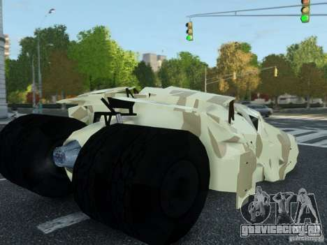 HQ Batman Tumbler для GTA 4 вид слева