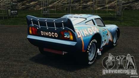 Lightning McQueen Dinoco для GTA 4 вид сзади слева