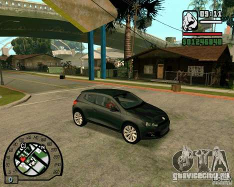 Volswagen Scirocco для GTA San Andreas вид сзади слева