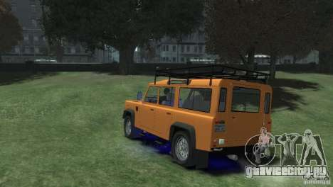 Land Rover Defender Station Wagon 110 для GTA 4 вид слева
