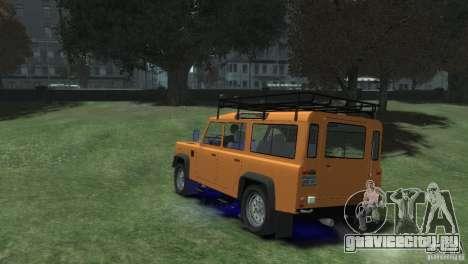 Land Rover Defender Station Wagon 110 для GTA 4 вид слева