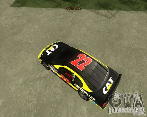 Dodge Nascar Caterpillar для GTA San Andreas вид справа