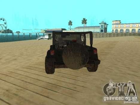 Jeep Wrangler SE для GTA San Andreas вид сзади слева