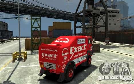 MAN TGA Rally Truck для GTA 4 вид справа