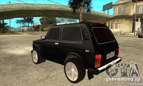 ВАЗ 21213 НИВА с тонировкой для GTA San Andreas вид сзади слева