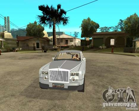 Rolls-Royce Phantom (2003) для GTA San Andreas вид сзади