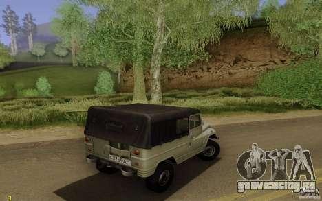 УАЗ 460Б для GTA San Andreas вид сзади слева
