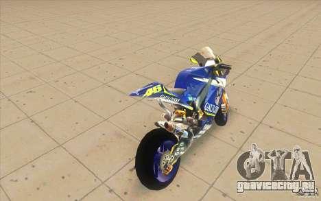 Yamaha M1 Rossi для GTA San Andreas вид сзади слева