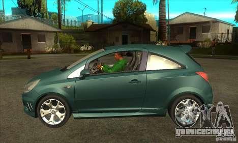 Vauxhall Corsa VXR для GTA San Andreas вид слева