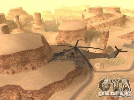 Ми-24П Пустынный камуфляж для GTA San Andreas вид изнутри