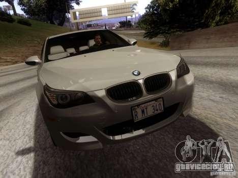 BMW M5 E60 2009 для GTA San Andreas вид сзади слева