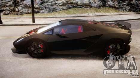 Lamborghini Sesto Elemento 2013 V1.5 для GTA 4 вид изнутри