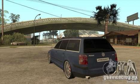 Volkswagen Passat B5.5 2.5TDI 4MOTION для GTA San Andreas вид сзади слева
