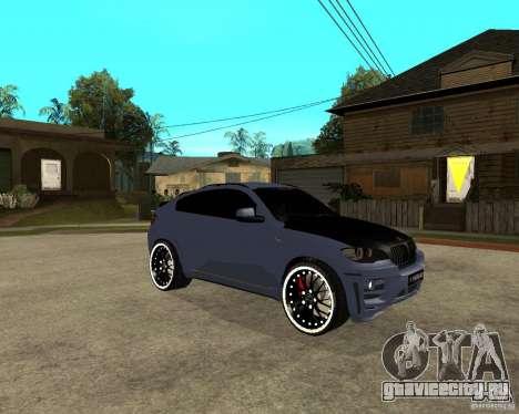 BMW X6 M HAMANN для GTA San Andreas вид справа