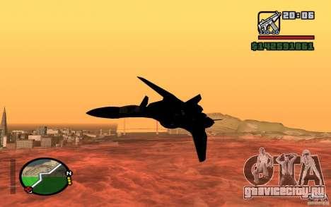 Y-f19 macross Fighter для GTA San Andreas вид сзади слева