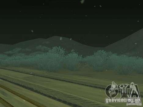 Снег v2.0 для GTA San Andreas третий скриншот