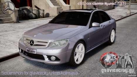 Mercedes-Benz C180 CGi Classic Special 2009 для GTA 4