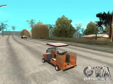 Golfcart caddy для GTA San Andreas вид слева