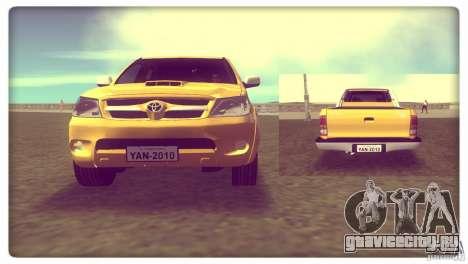 Toyota Hilux SRV 4x4 для GTA Vice City вид сзади слева