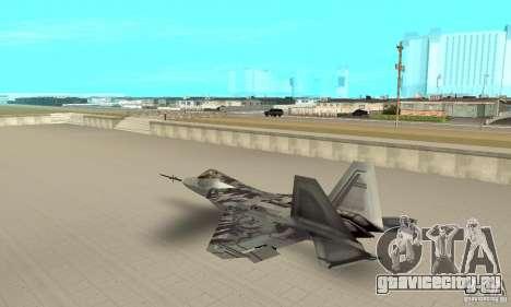 YF-22 Starscream для GTA San Andreas вид сзади слева