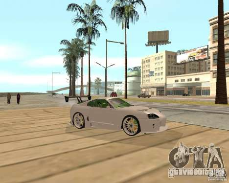 Toyota Supra TwinTurbo для GTA San Andreas вид справа