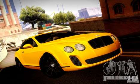 Bentley Continental Supersports для GTA San Andreas вид сбоку