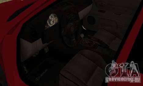 Lexus IS300 для GTA San Andreas вид справа