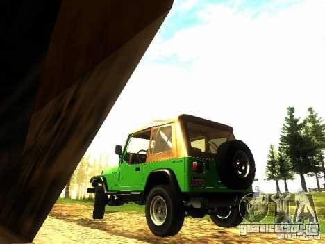 Jeep Wrangler Convertible для GTA San Andreas вид сзади слева