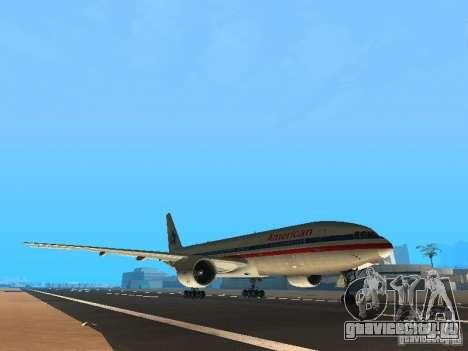 Boeing 777-200 American Airlines для GTA San Andreas вид слева