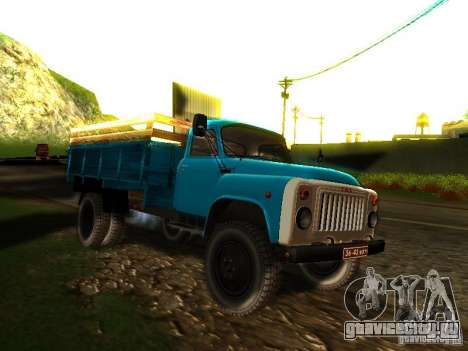 ГАЗ 53 для GTA San Andreas вид сзади