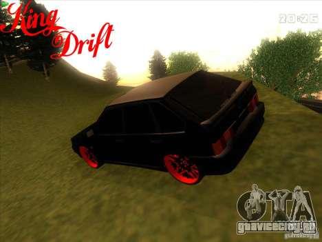 Ваз 2114 Devil Style для GTA San Andreas вид слева